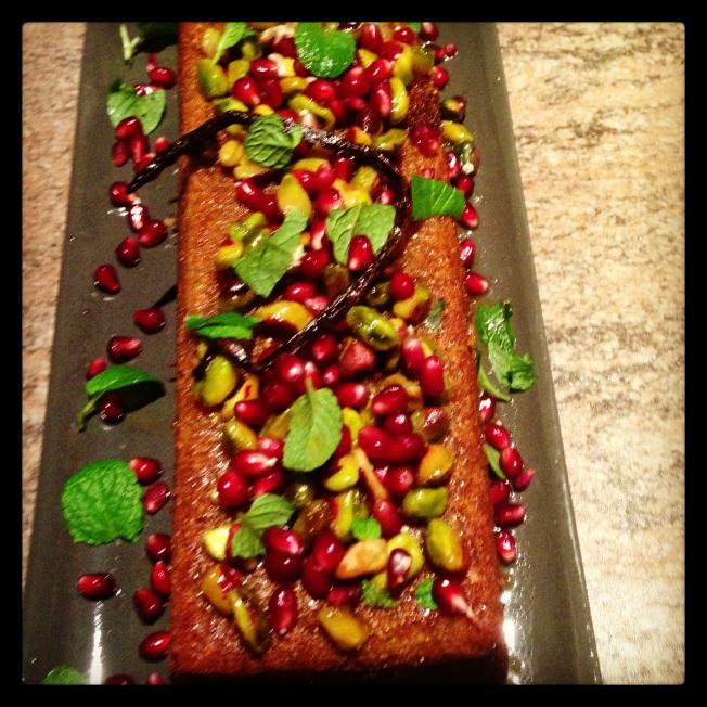 Gluten free Pistachio rosewater cake